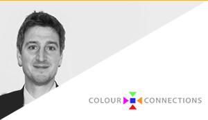 Porträt von Phil Patterson und Colours ConnectionsLogo